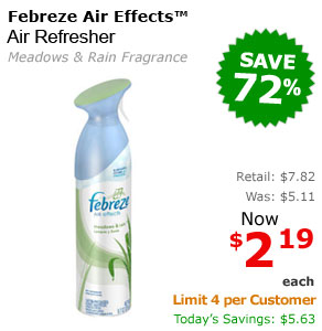 Febreze Air Effects Meadows & Rain Air Refresher 1 Each