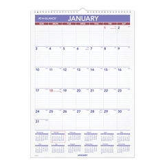 AAGPMLM0228 - AT-A-GLANCE® Laminated Erasable Monthly Wall Calendar with Ruled Daily Blocks