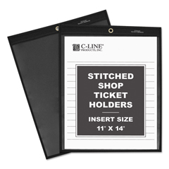 CLI45114 - C-Line ProductsShop Ticket Holders, Stitched, One Side Clear, 11 x 14