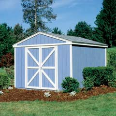 HHS18413-0 - Handy Home ProductsPremier Series - Somerset 10' x 10' Storage Building With Floor Kit
