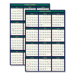 HOD391 - House of Doolittle™ Four Seasons Write-On/Wipe-Off Business and Academic Year Wall Calendar
