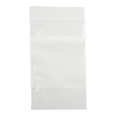 MEDNONZIP35 - MedlineBag, Zip, White Write-On Block, 3x5, 2Mil