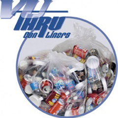 PITP4015C - Pitt Plastics Vu-Thru Low Density Can Liners