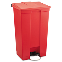 RCP6146RED - Rubbermaid CommercialIndoor Utility Step-On Waste Container