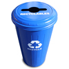 Safco-round-containers: Witt Industries - Tall Round Recycling Wastebasket