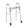 "Stoko-gray: Drive Medical - Two Button Folding Steel Walker w/5"" Wheels"