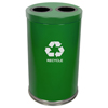 Recycling Containers: Witt Industries - Two Hole Large Indoor Recycling Container