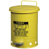 Safety storage & security carts: Justrite - Yellow Oily Waste Cans