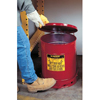 Safety storage & security carts: Justrite - Red Oily Waste Cans