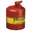Safety storage & security carts: Justrite - 2.5g/9.5l Safe Can Red