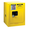 Safety storage & security carts: Justrite - Yellow Countertop & Compac Cabinets