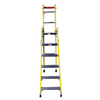 ladders: Louisville Ladder - FC1000 Series Rhino 375™ Fiberglass Combination Step-To-Straight Ladders