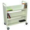 book carts: Luxor - Heavy-Duty Steel Book Truck with 6 Shelves