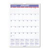 folders and binders and planners: AT-A-GLANCE® Monthly Wall Calendar with Ruled Daily Blocks