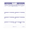 folders and binders and planners: AT-A-GLANCE® Flip-A-Week® Desk Calendar Refill
