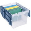 Attached Lids: Akro-Mils - Plastic Storage Hanging File Boxes with Attached Lids