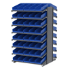 "metal shelving units: Akro-Mils - 18"" Deep Pick Rack Double-Sided - 36"" D x 36"" W x 60"" H"