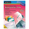 Apollo: Apollo® Inkjet Printer Transparency Film