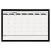 The Board Dudes The Board Dudes Magnetic Dry Erase Board, 35 x 23, Black/White Calendar with Black-Painted Frame BDU 17006BDVA