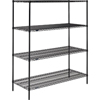 wire shelving: Nexel Industries - Black Epoxy Finish Shelving Starter Unit