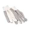 Safety-zone-canvas-gloves: Boardwalk® Men's PVC Dotted Canvas Gloves