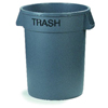 Safco-round-containers: Carlisle - Bronco™ Round Trash Cans - Trash - 32 Gallon Capacity