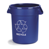 Recycling Containers: Carlisle - Bronco™ Round Recycling Cans