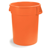 Safco-round-containers: Carlisle - 32 Gal Bronco™  Container - Orange