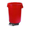 Safco-round-containers: Carlisle - Bronco™ Containers with Dolly