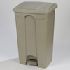 Safco-specialty-receptacles: Carlisle - 12 Gal Step-On Container-Beige