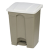 Safco-specialty-receptacles: Carlisle - 18 Gal Step-On Container - White