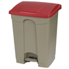 Safco-specialty-receptacles: Carlisle - 18 Gal Step-On Container - Red