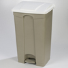Safco-specialty-receptacles: Carlisle - Step-On Container 23 Gal - White