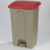 Safco-specialty-receptacles: Carlisle - Step-On Container 23 Gal - Red