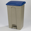 Safco-specialty-receptacles: Carlisle - Step-On Container 23 Gal - Blue