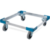 "Safco-dollies: Carlisle - Opticlean Open Aluminum Dolly, No Handle 20-3/4"", 20-3/4"", 6-5/8"" - Carlisle Blue"
