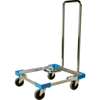 "Safco-dollies: Carlisle - Opticlean Open Aluminum Dolly with  Handle 21-3/4"", 21-3/4"", 35-1/2"" - Carlisle Blue"