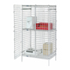 Safety storage & security carts: Nexel Industries - Poly-Z-Brite™ Wire Security Shelving Unit