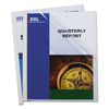 office: C-Line Products - Vinyl Report Covers w/Binding Bars, Clear, White Binding Bars, 11 x 8 1/2