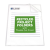 folders and binders and planners: C-Line Products - Recycled Project Folders, Clear - Reduced Glare