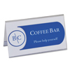 C-Line Products Small Rigid Heavyweight Plastic Name Tent Holders, 2 x 3 1/2, Clear CLI 87537