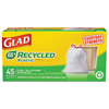recycling and trash liners: Clorox Professional - Glad® Recycled Tall-Kitchen Drawstring Bags