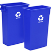 Recycling Containers: Continental - Wall Hugger™ Recycling Containers with Handles
