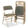 Cosco Bridgeport™ Deluxe Fabric Padded Seat and Back Folding Chair CSC 36885CVT4