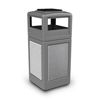 Commercial Zone Products 42-Gallon StoneTec Panel Container with Ashtray Dome Lid CZP 72051199