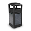 Commercial Zone Products 42-Gallon StoneTec Panel Container with Ashtray Dome Lid CZP 72051399