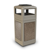 Commercial Zone Products 42-Gallon StoneTec Panel Container with Ashtray Dome Lid CZP 72051599