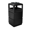 Commercial Zone Products 38-Gallon 3-tier Waste Container with Dome Lid Ashtray CZP 73260199