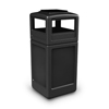 Commercial Zone Products 42-Gallon Square Waste Container with Ashtray Dome Lid CZP 73300199