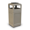 Commercial Zone Products 42-Gallon Square Waste Container with Ashtray Dome Lid CZP 73300299